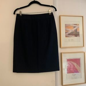 J Crew Super 120s Suiting Navy Skirt